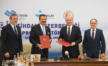 Mesleki Eğitim ve İstihdam Seferberliği Protokolü İmzalandı